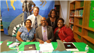 Healthy Families staff judge middle school 2018 Summer STREAM competition