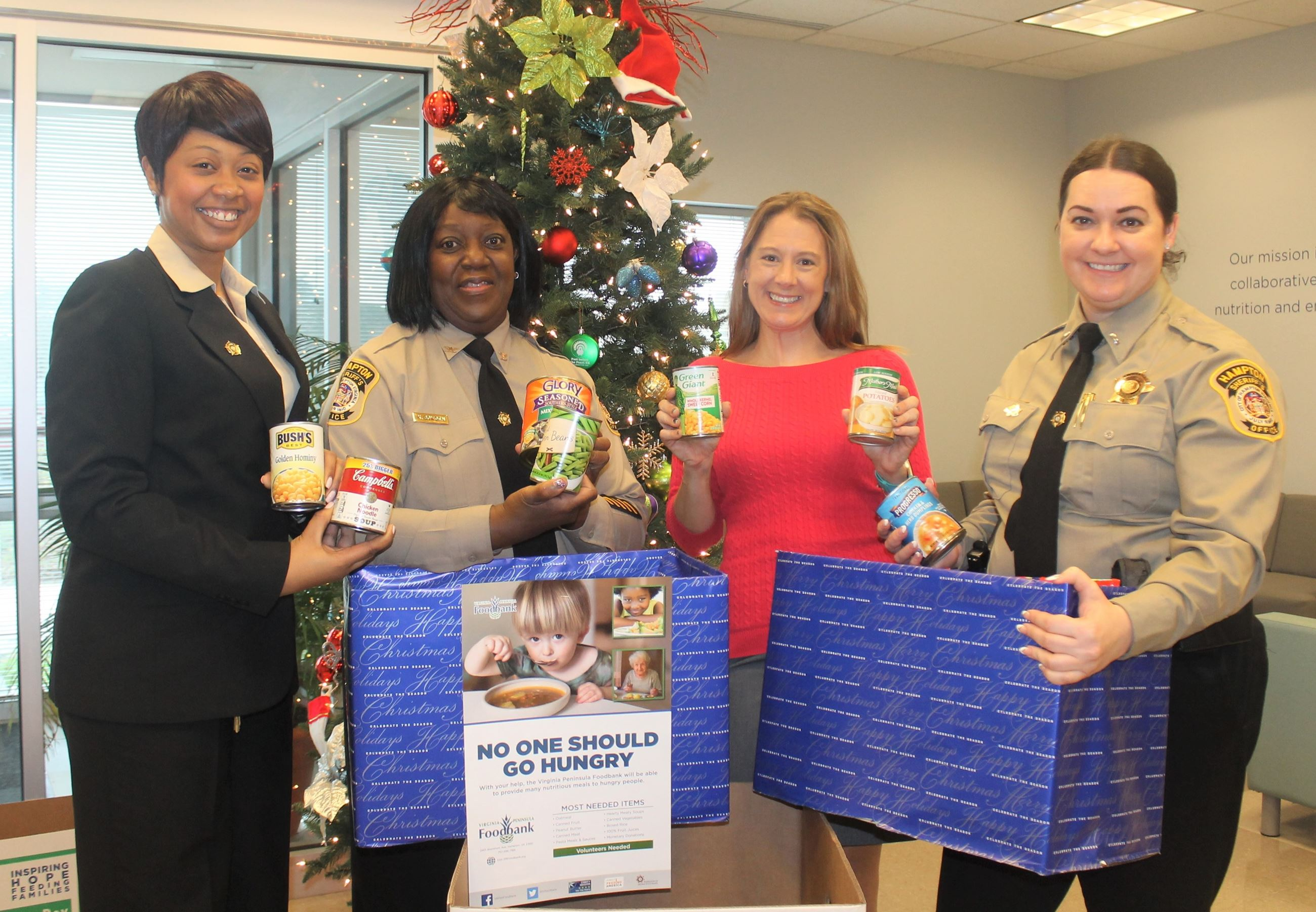 Sheriff's Office donates to Peninsula Food Bank
