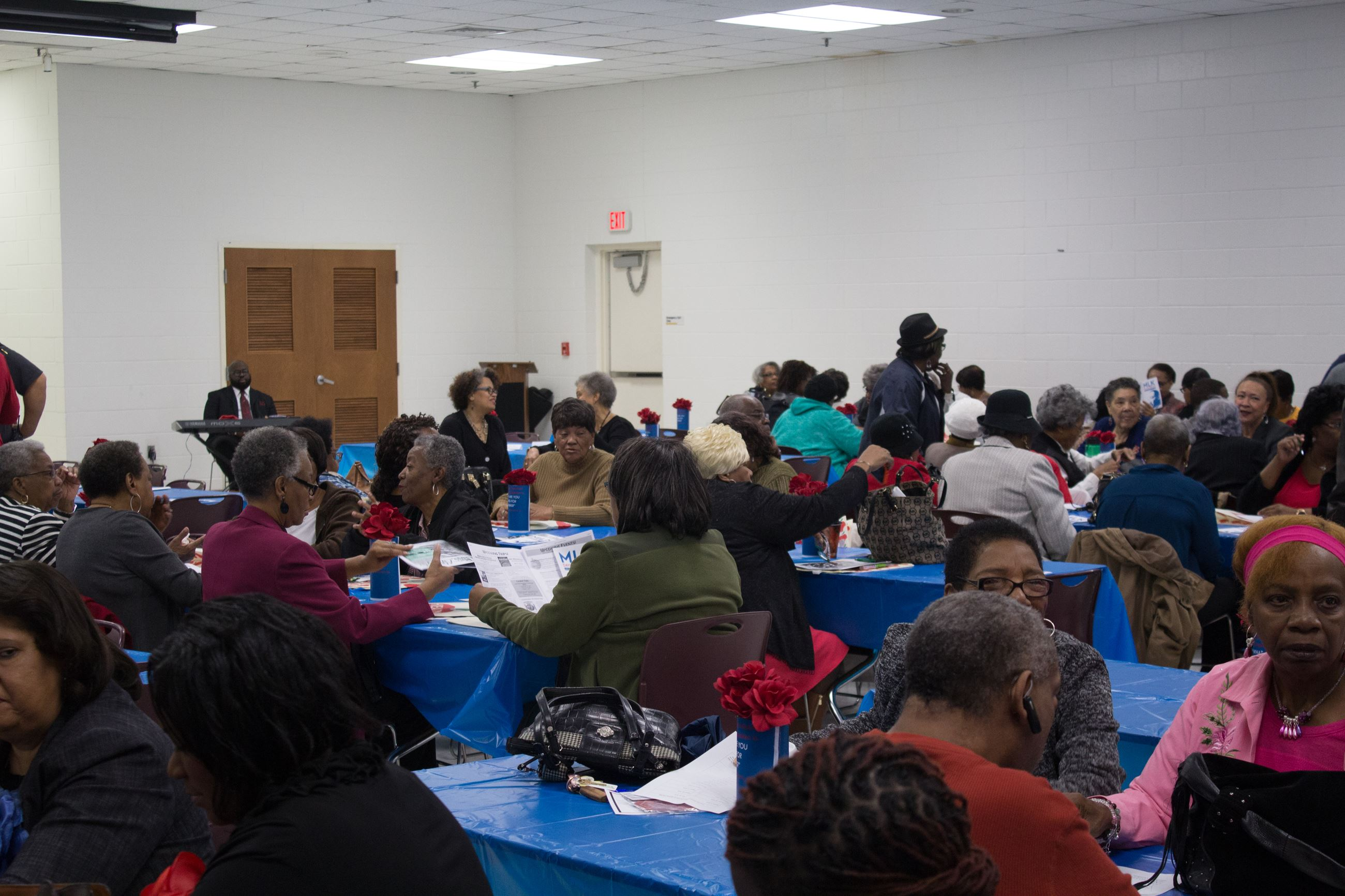 Attendees at MLK Day of Service event