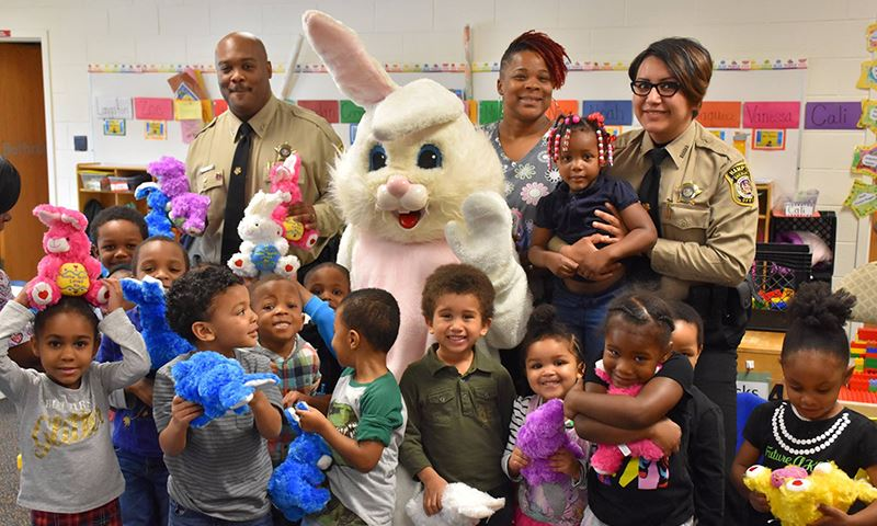 For the 11th straight year, the Hampton Sheriff's Office partnered with the Easter Bunny Foundation, a non-profit that partners with law enforcement across the country to give personal visits and toys