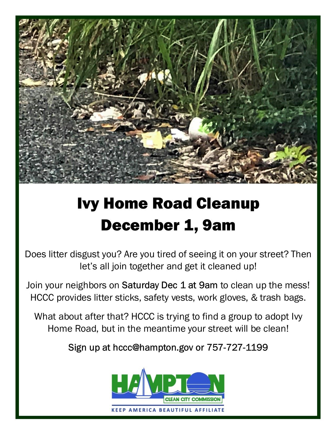 Ivy Home Road Community Cleanup 12-1-18
