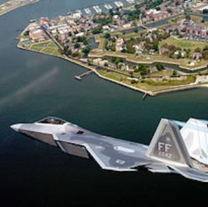 Langley Air Force base and F-22