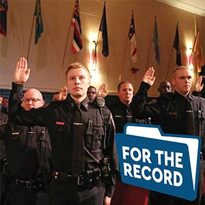 For The Record Police Swearing In