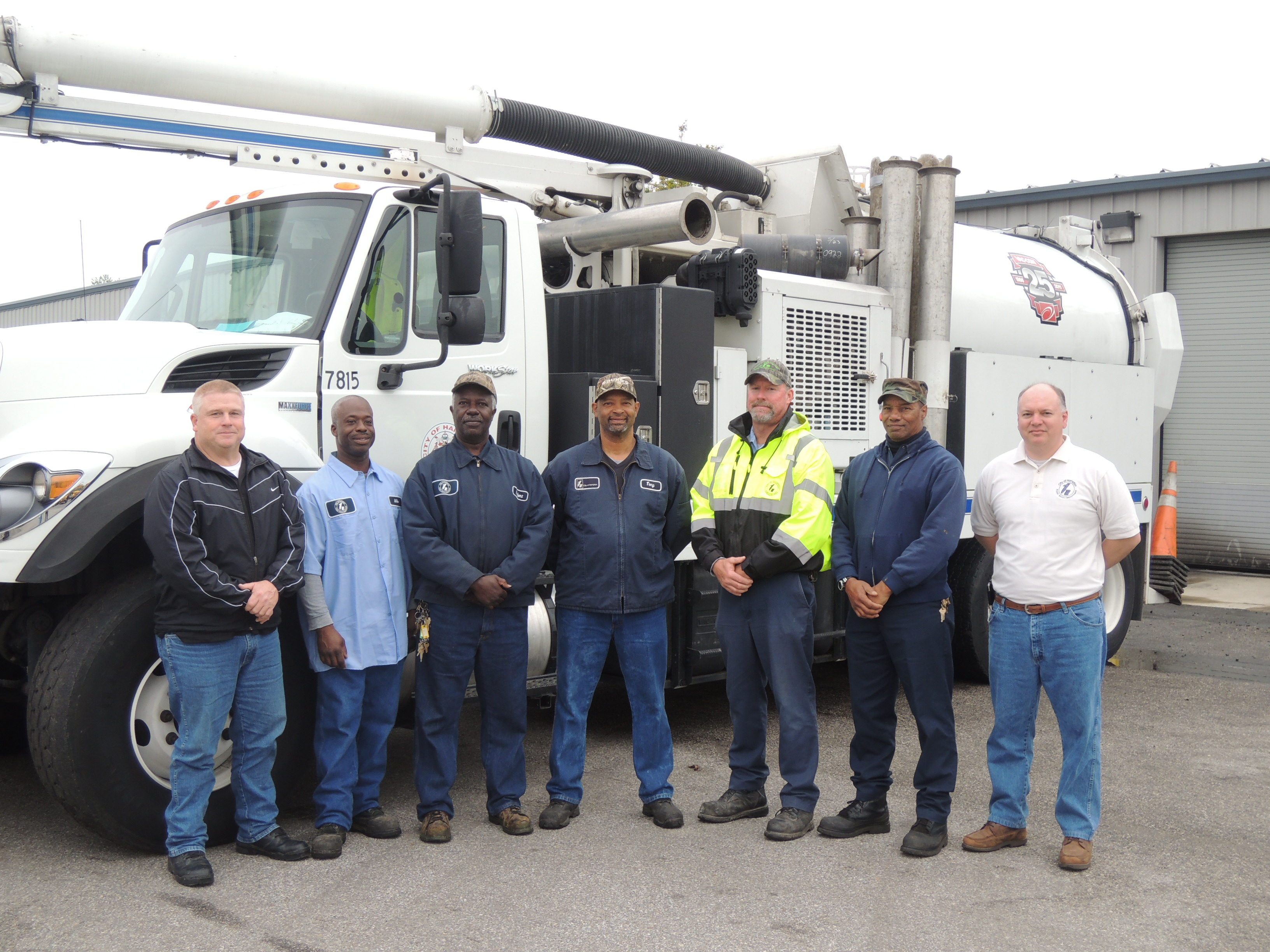 Public works crew that recovered lost ring