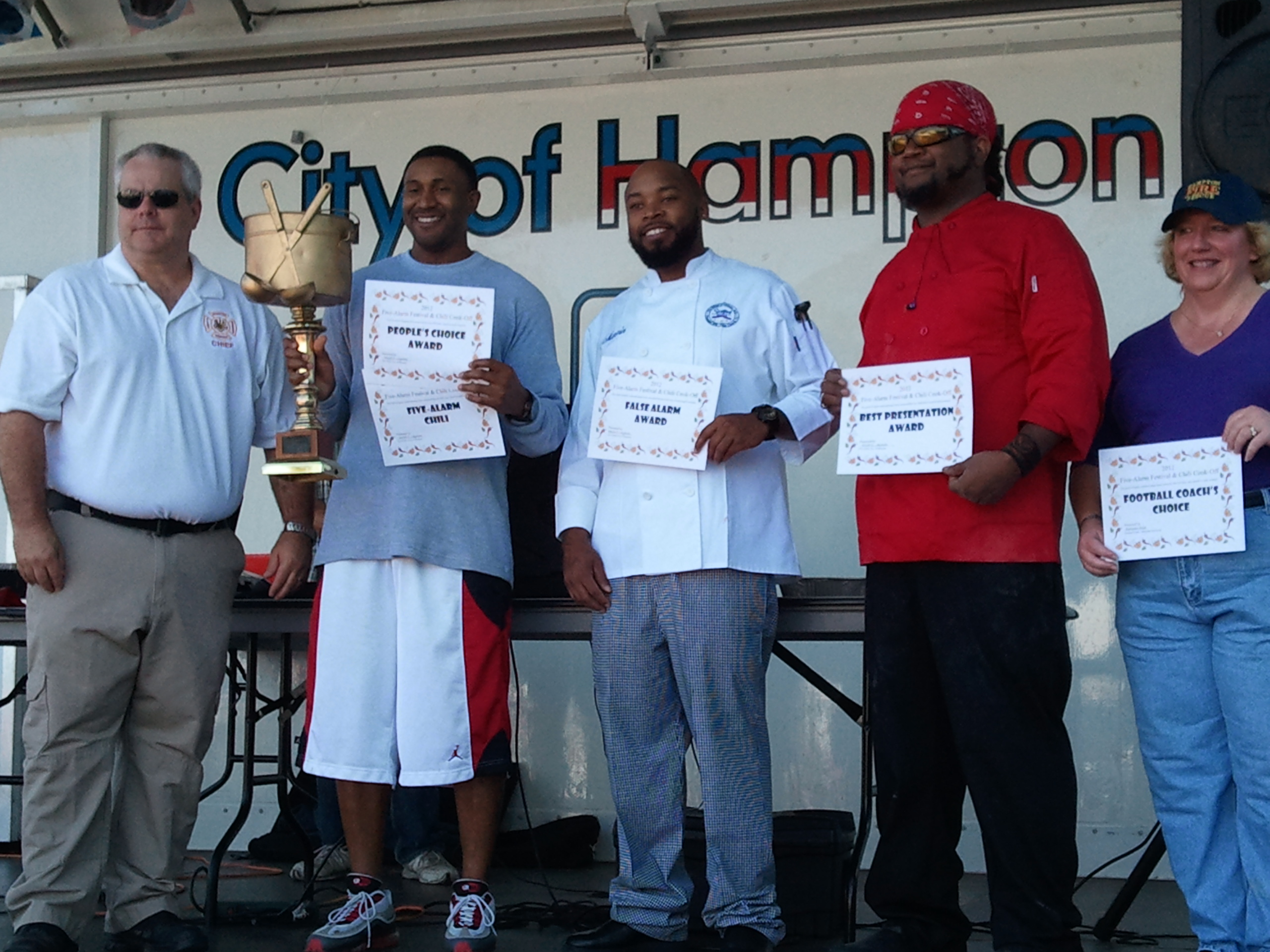 Cookoff awards are presented