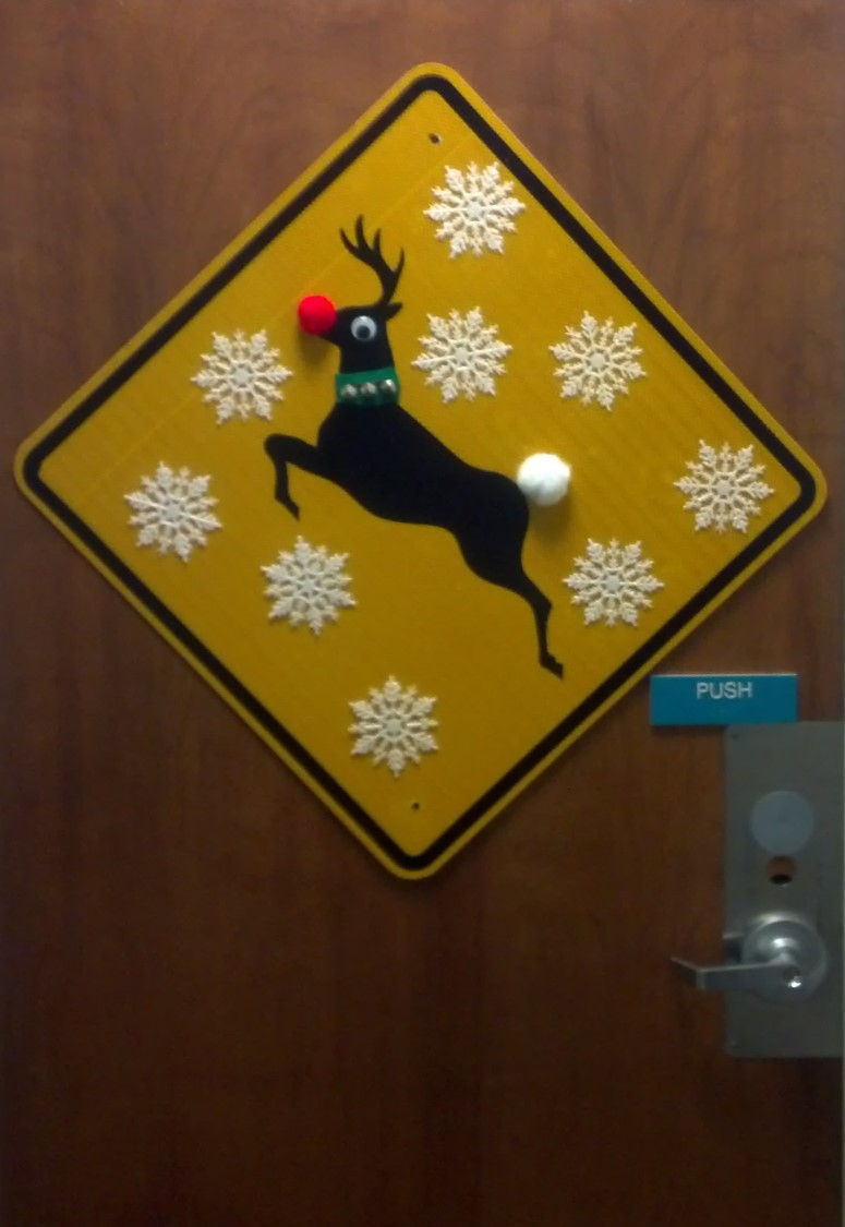 Department of Public Works Holiday Door Decoration