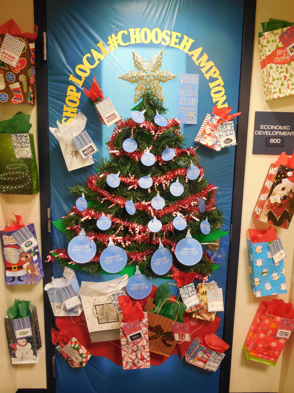 Honorable Mention - Economic Development Holiday Door Submission
