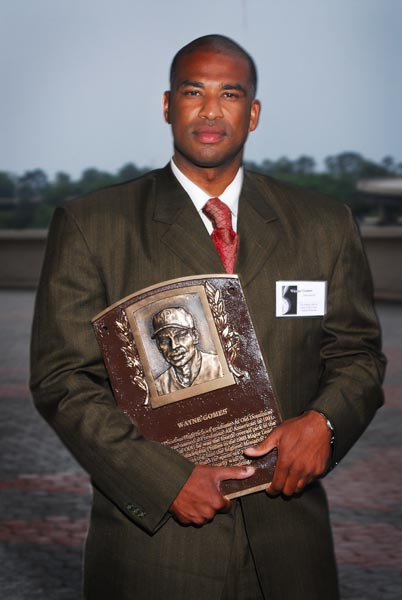 Wayne Gomes with Plaque