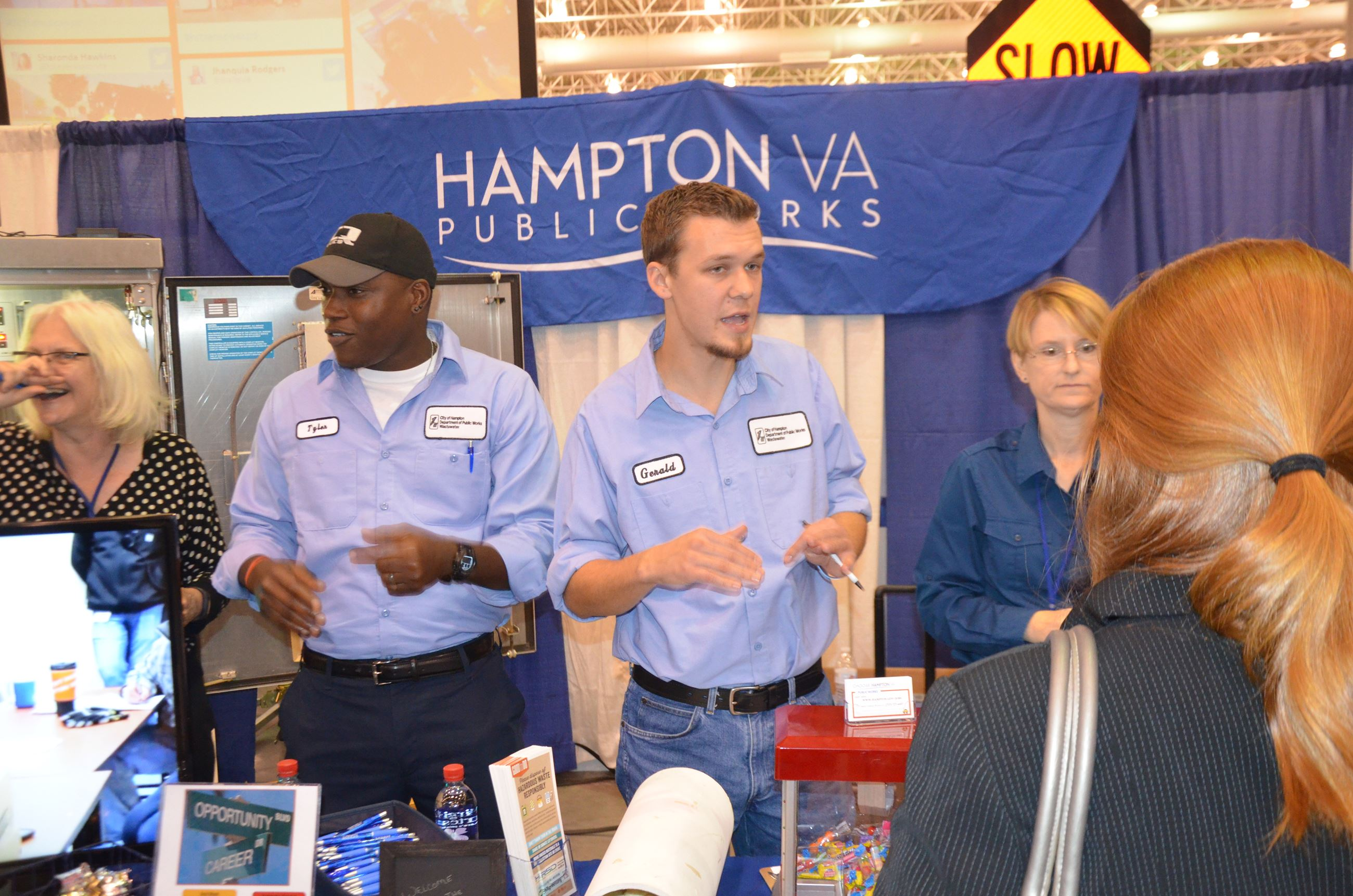 Prentice Tyler and Gerald Brinson of Public Works at the transportation expo.