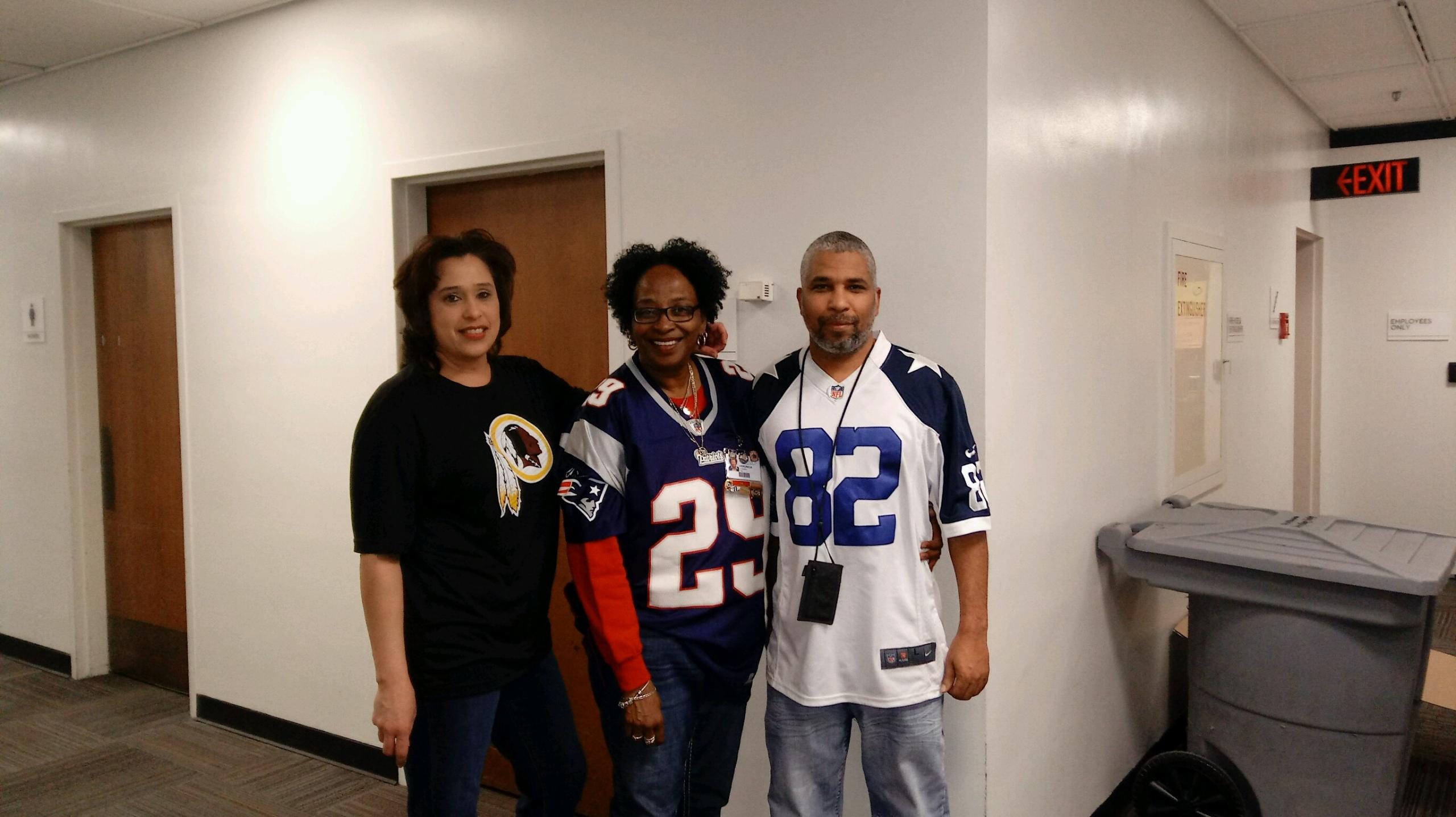 Tammi Lee (Council office), Veronica Johnson (Fire), and Terry Moody (IT) show off team spirit.